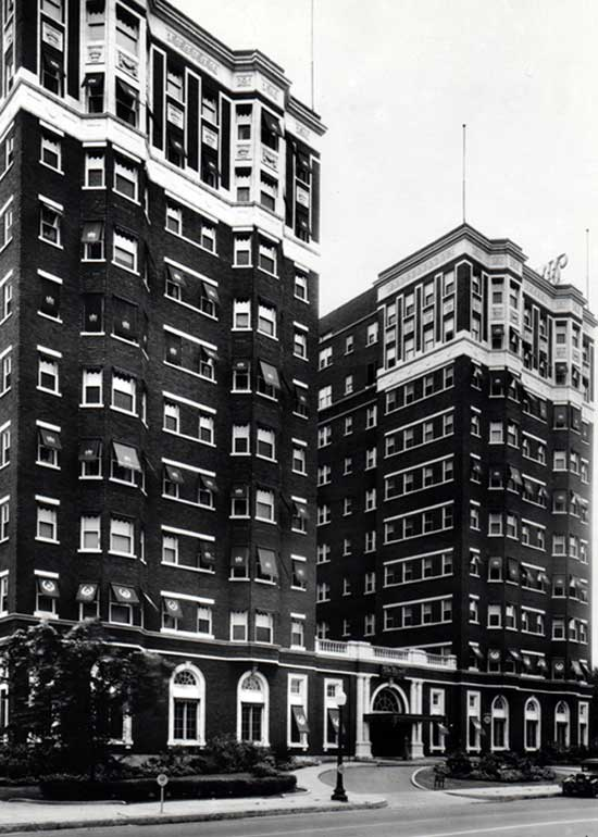 old photograph of exterior