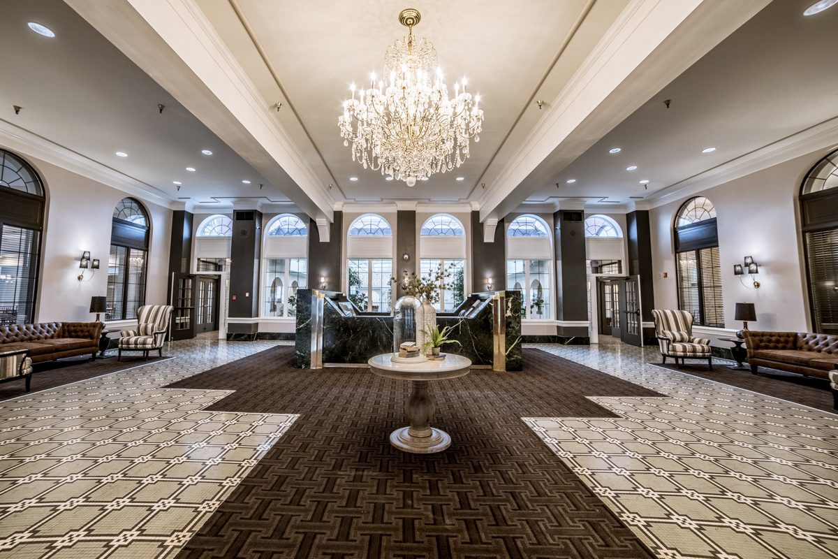 luxurious view of lobby